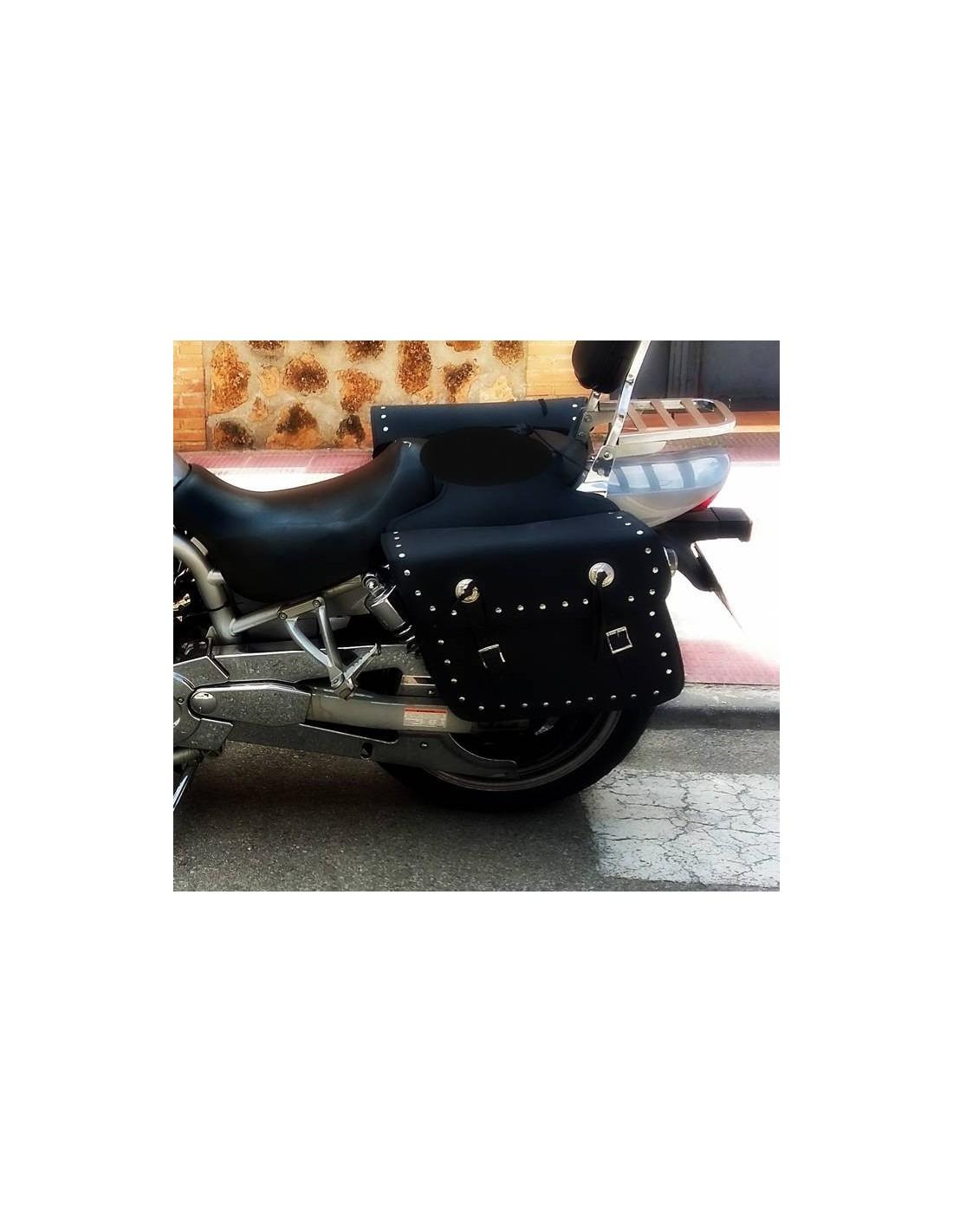 Alforjas Moto Custom Cuero PU 27 litros