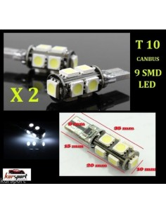 Bombillas T10 9 SMD Canbus