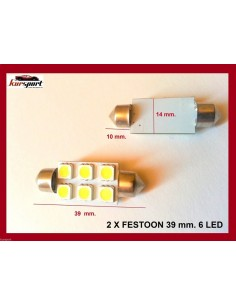 Bombillas C5W 6 SMD 39mm
