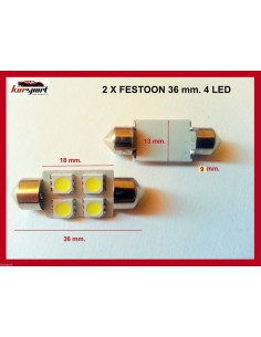 Bombillas C5W 4 SMD 36mm