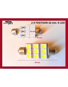 Bombillas C5W 9 SMD 42mm