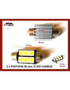 Bombillas C5W 6 SMD Canbus