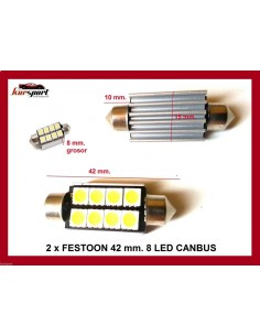 Bombillas C5W 8 SMD Canbus