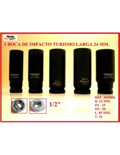 "Bocas de impacto 21 mm. 1/2\"" larga"