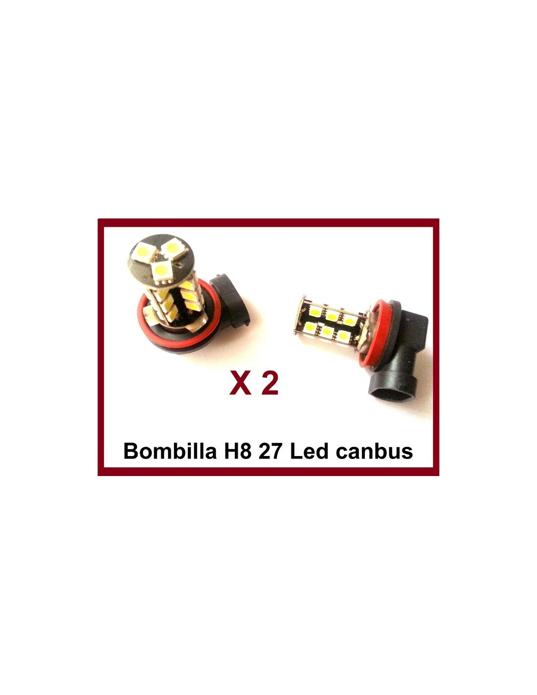 Bombillas H8 27 SMD Canbus