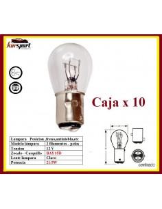 LAMPARA BOMBILLA 2 POLOS 12V P21 5W BAY15D