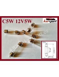 5 BombillaS halogenas C5W 12V 5W Casquillo SV8.5