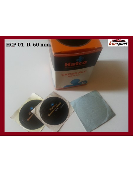 Parches Diagonales para cubierta neumaticos tubeless 60mm