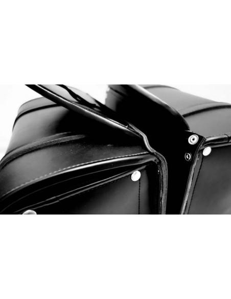 Alforjas de piel  motos custom 25 litros