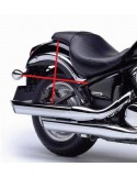 Alforjas de cuero PU motos custom 18 litros