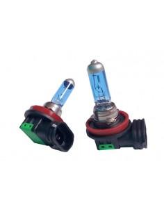 Bombillas lámparas halógenas H11 efecto xenon