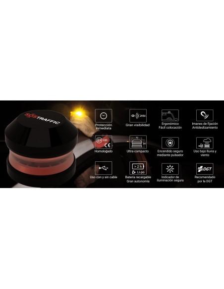 Baliza Led V-16  SOSTRAFFIC  Magnetica Luz emergencia Homologada