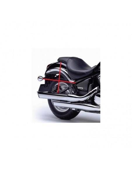 Alforjas de cuero motos custom 18 litros