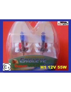 Bombillas lámparas halógenas H1 efecto xenon