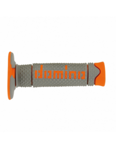 Puños off road Domino DSH gris/naranja A26041C4552. A26041C4552A7-0. 8033900034112
