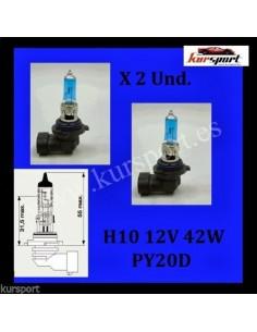 Bombillas lámparas halógenas H10 efecto xenon