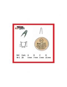 Cuchilla angular para rayar neumaticos