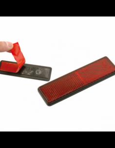 Reflex rectangular con adhesivo 91x25 homologado. R004-RED-ADHESIVE. 8430525114180