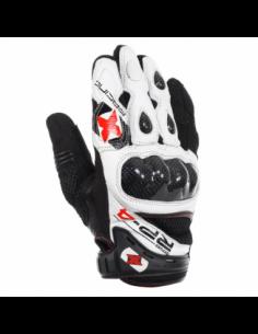 Guantes Racing cortos de cuero-rejilla Oxford RP-4 blanco/negro talla 2XL. GM2022XL. 5030009244087