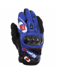 Guantes Racing cortos de cuero-rejilla Oxford RP-4 azul/negro talla XL. GM200XL. 5030009244025
