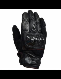 Guantes Racing cortos de cuero-rejilla Oxford RP-4 negro completo talla L. GM204L. 5030009252754