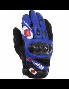 Guantes Racing cortos de cuero-rejilla Oxford RP-4 azul/negro talla S. GM200S. 5030009244018