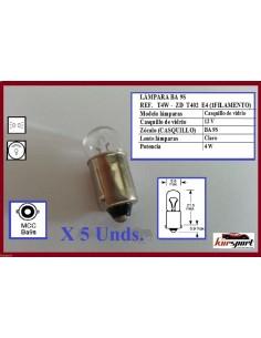 Bombillas lámparas halógenas T4W
