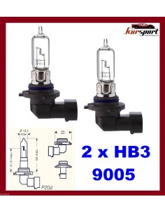 Bombillas lámparas halógenas HB3 9005