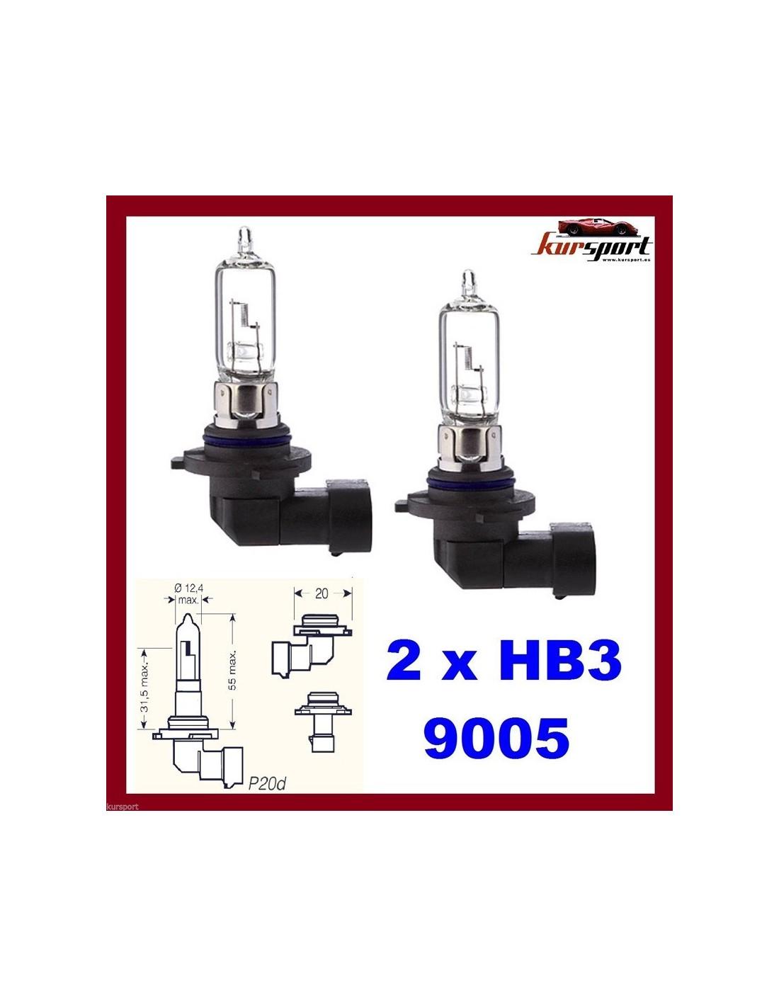 Lampara halogena h13 12v 60 55w cortas largas - Tipos bombillas halogenas ...