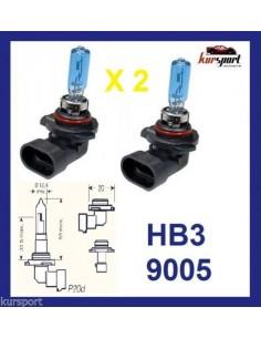Bombillas lámparas halógenas HB3 9005 efecto xenon