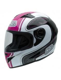 Casco de moto NZI Must II White Pink