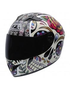 Casco de moto NZI Must II Mexican Skulls