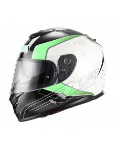 Casco de moto NZI Symbio Duo Aresone White Green