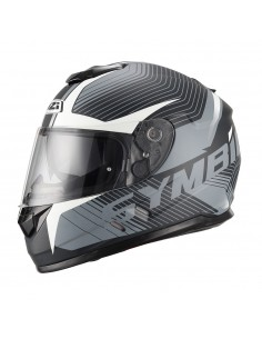 Casco de moto NZI Symbio Duo Tera Black White