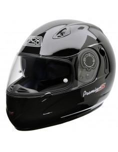 Casco de moto NZI Premium S Duo Negro Brillo