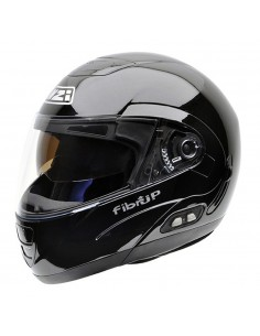 Casco de moto NZI Fibrup Duo Negro Brillo PH