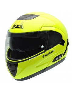 Casco de moto NZI Fibrup Duo Fluo Yellow PH