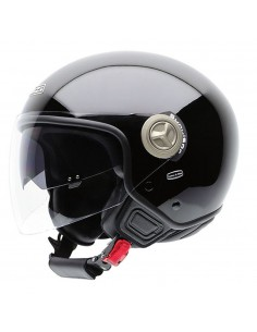Casco de moto NZI Center Duo Negro Brillo