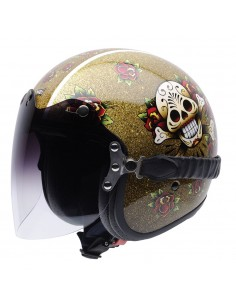 Casco de moto NZI Rolling Duo Skull'N'Roses