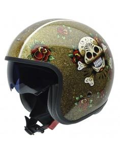 Casco de moto NZI Rolling Sun Skull'N'Roses