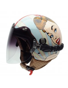 Casco de moto NZI Tonup Visor Chica Bonita
