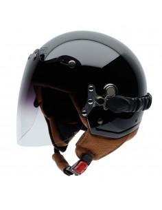 Casco de moto NZI Tonup Visor Negro Brillo