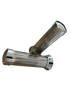 Puños de moto aluminio Silver Bar End Alloy