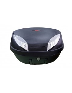 Baúl Top Case para moto negro 48 litros