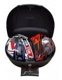 Baúl Top Case para moto negro 46 litros