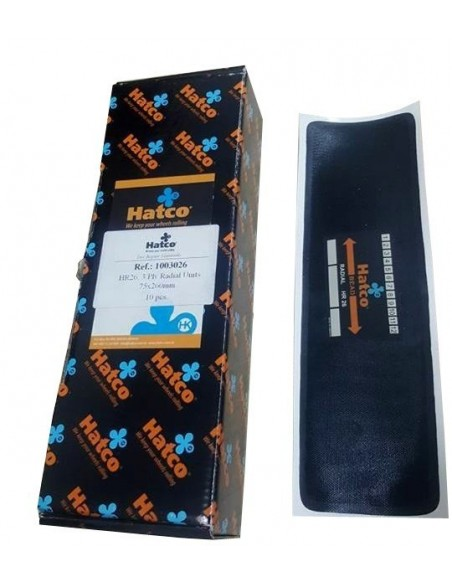 Parches radiales neumáticos tubeless 75x260 mm