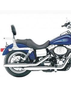 Respaldo con portaequipajes para moto Harley Davidson Dyna Glide 2001-2006 (Excepto Dyna Wide)