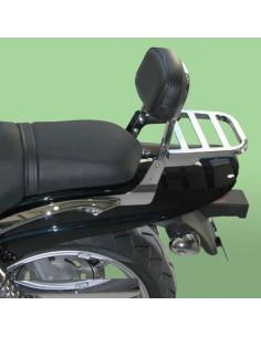 Respaldo bajo con portaequipajes para moto Hyosung Aquila Gv650