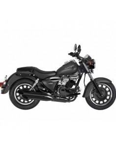 Respaldo sin portaequipajes color negro para moto Keeway Super Light 125 Le