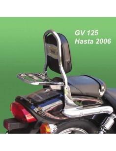 Respaldo con portaequipajes para moto Hyosung Aquila 125 Gv (Hasta 2006)